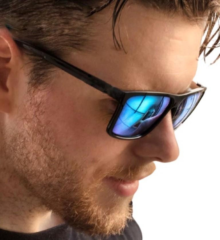 Óculos De Sol Modelo Quadrado M.looy Lentes Azul espelhado