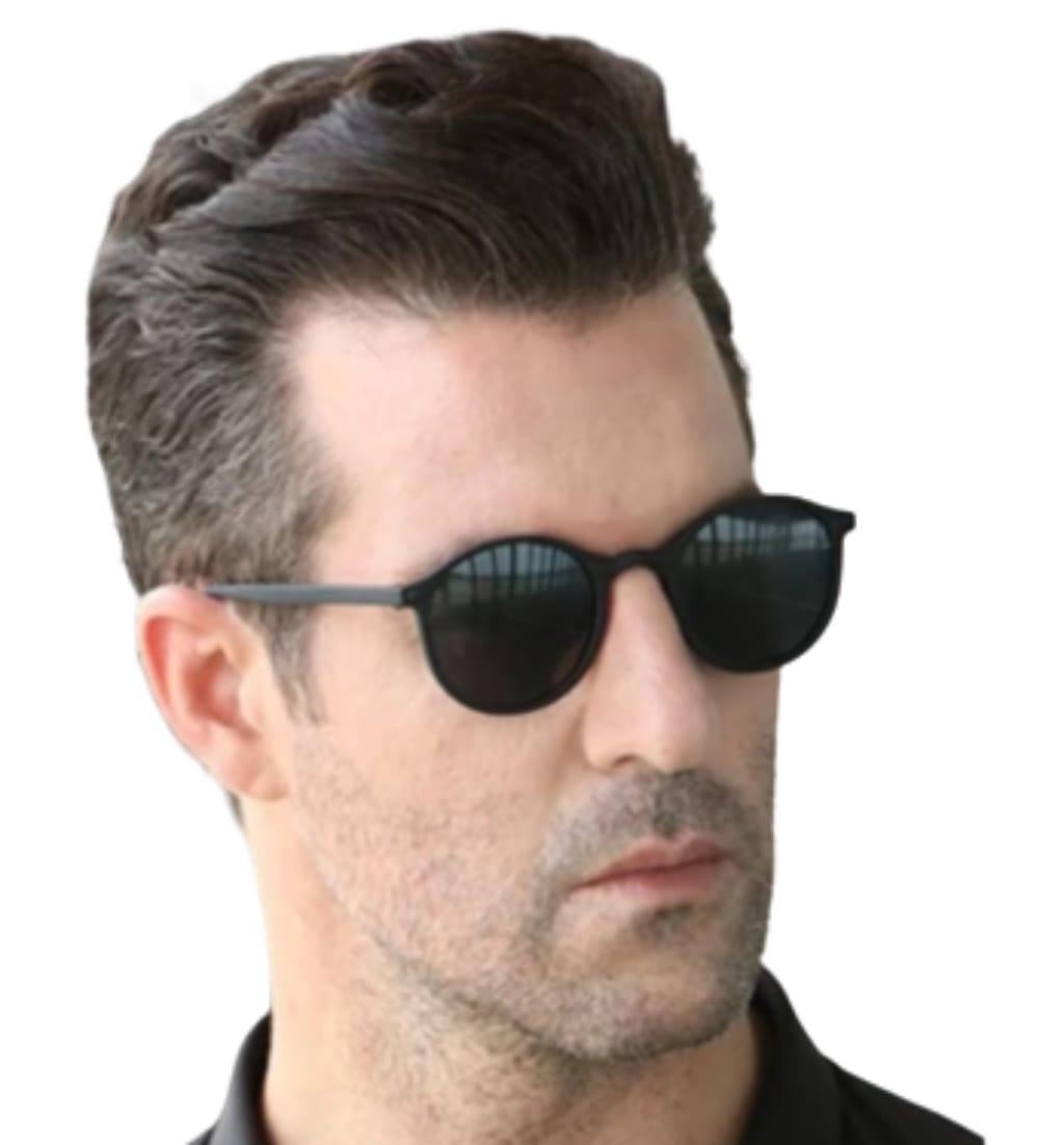 Óculos de sol Oldschool Estilo redondo Masculino e Feminino
