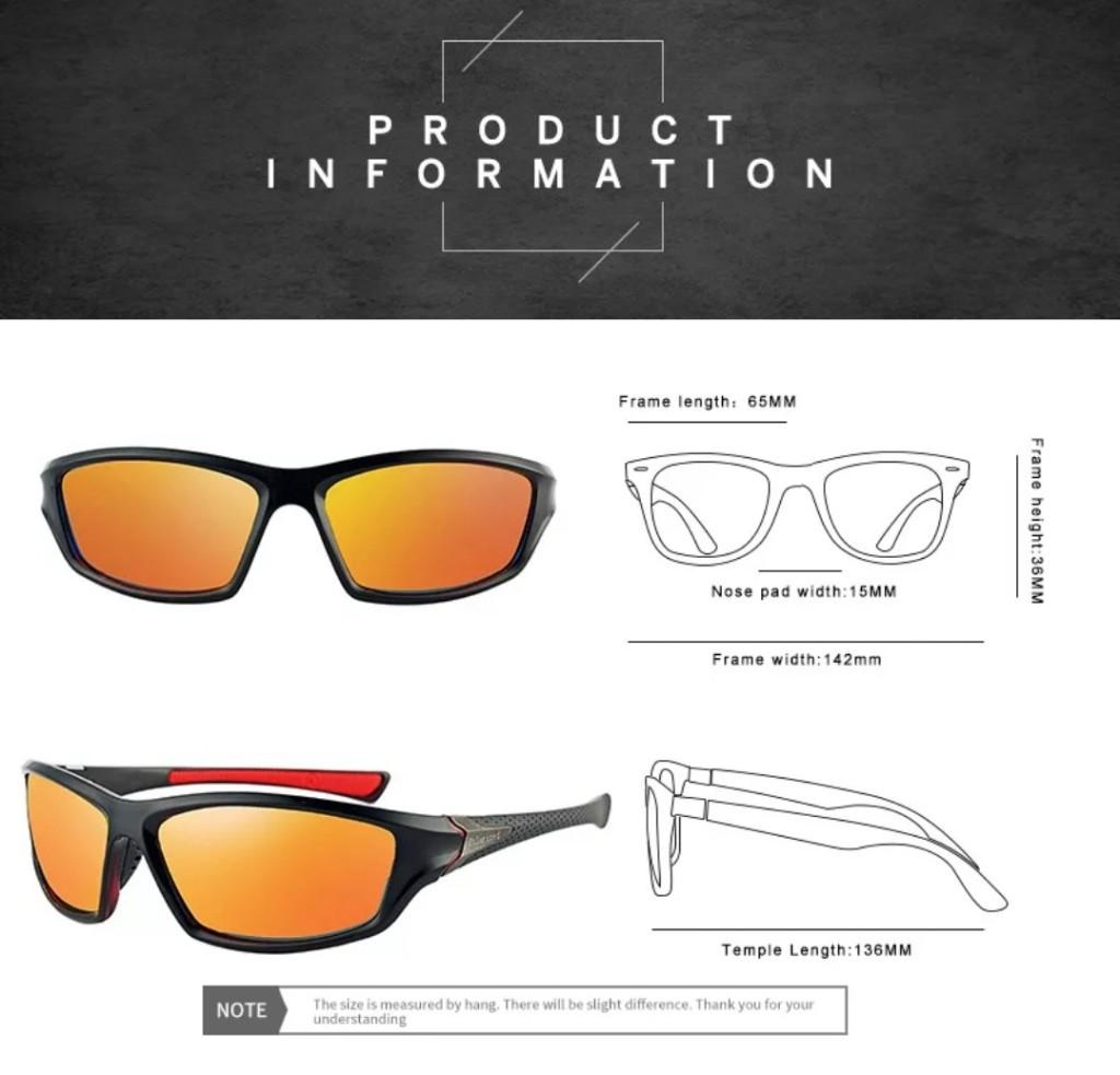 Óculos De Sol para Homem Esporte Uv400 Polarizado Cores