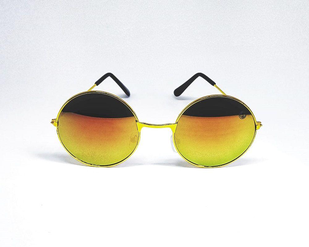 Óculos De Sol Redondo Espelhado Masculino - Feminino