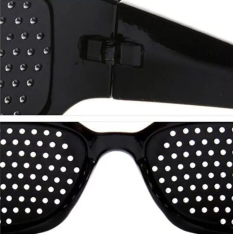Óculos Pinhole antifadiga terapêutico Unisex