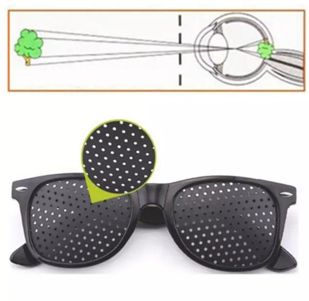Óculos Pinhole Reticulado Furadinho Exericio anti-Miopia