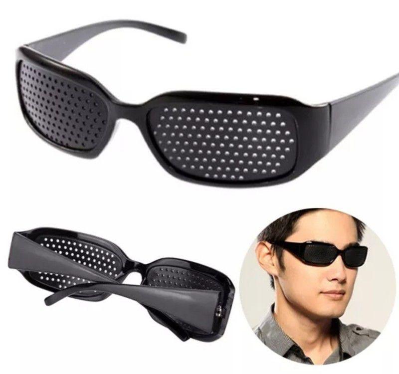 Óculos Unisex Pinhole furinhos auxilio para os olhos cansados