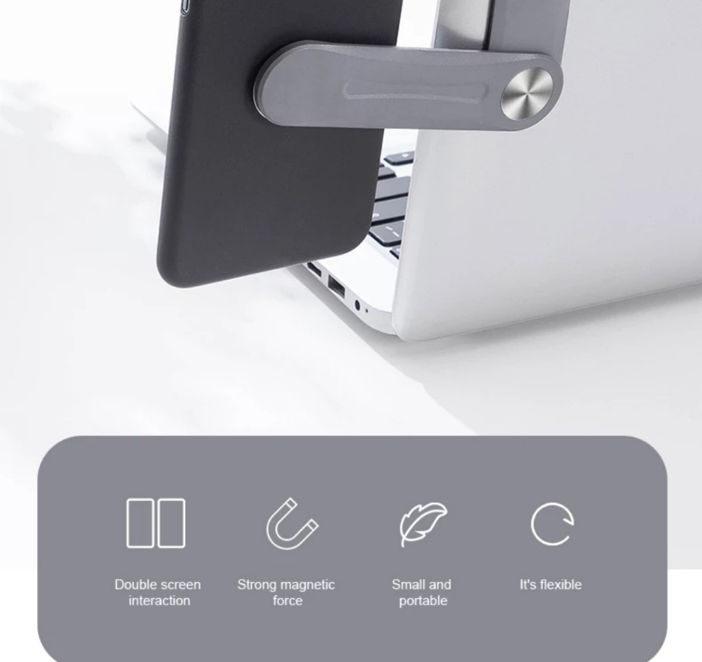 Suporte de Celular com ímã para tela de notebook, Leptop, computador, tablet.