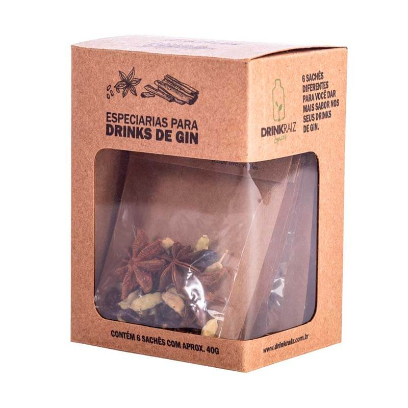3 Caixas com 6 Blends de Especiarias para Drinks de Gin - Rende 18 Drinks - Drink Raiz
