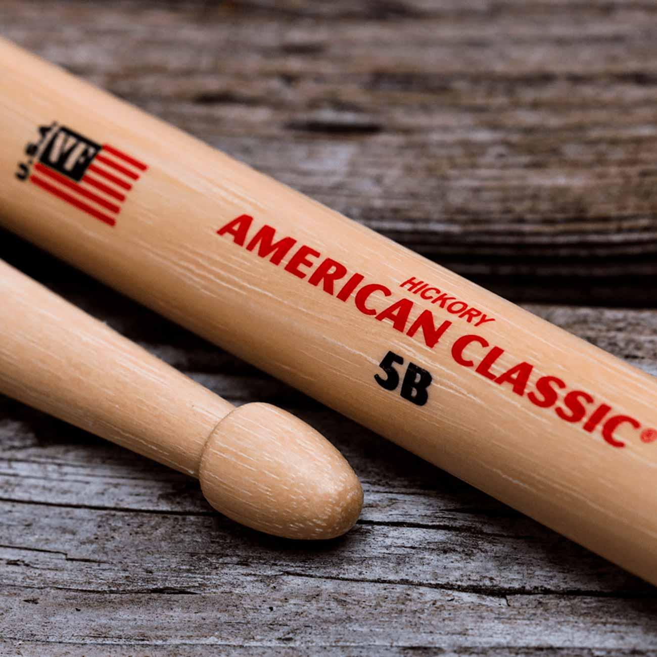 Baqueta American Classic 5B Vic Firth Com Ponta de Madeira