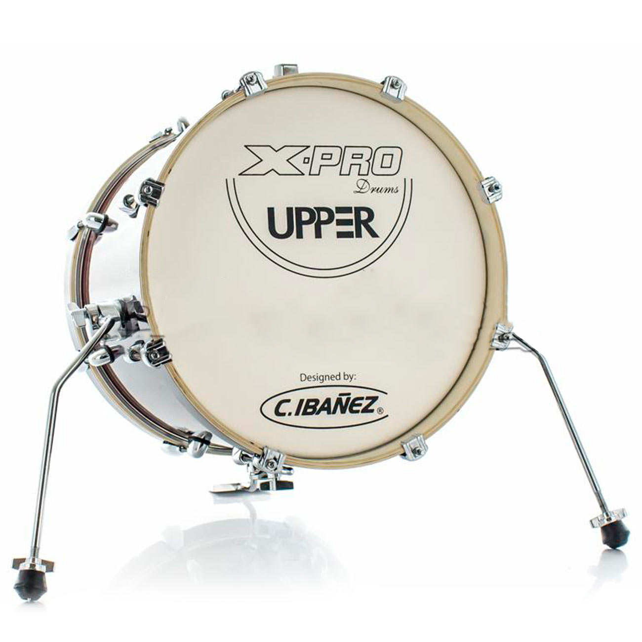 Bateria X-Pro Upper Compact Red Sparkle Com Bumbo 16¨