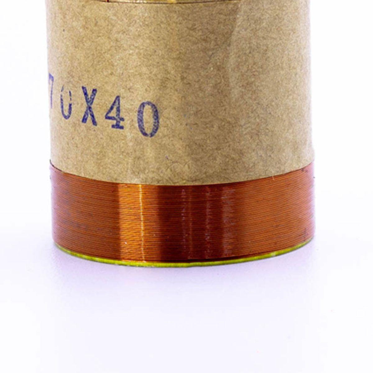 Bobina para Alto Falante Aluminio 38x70 4R 8R