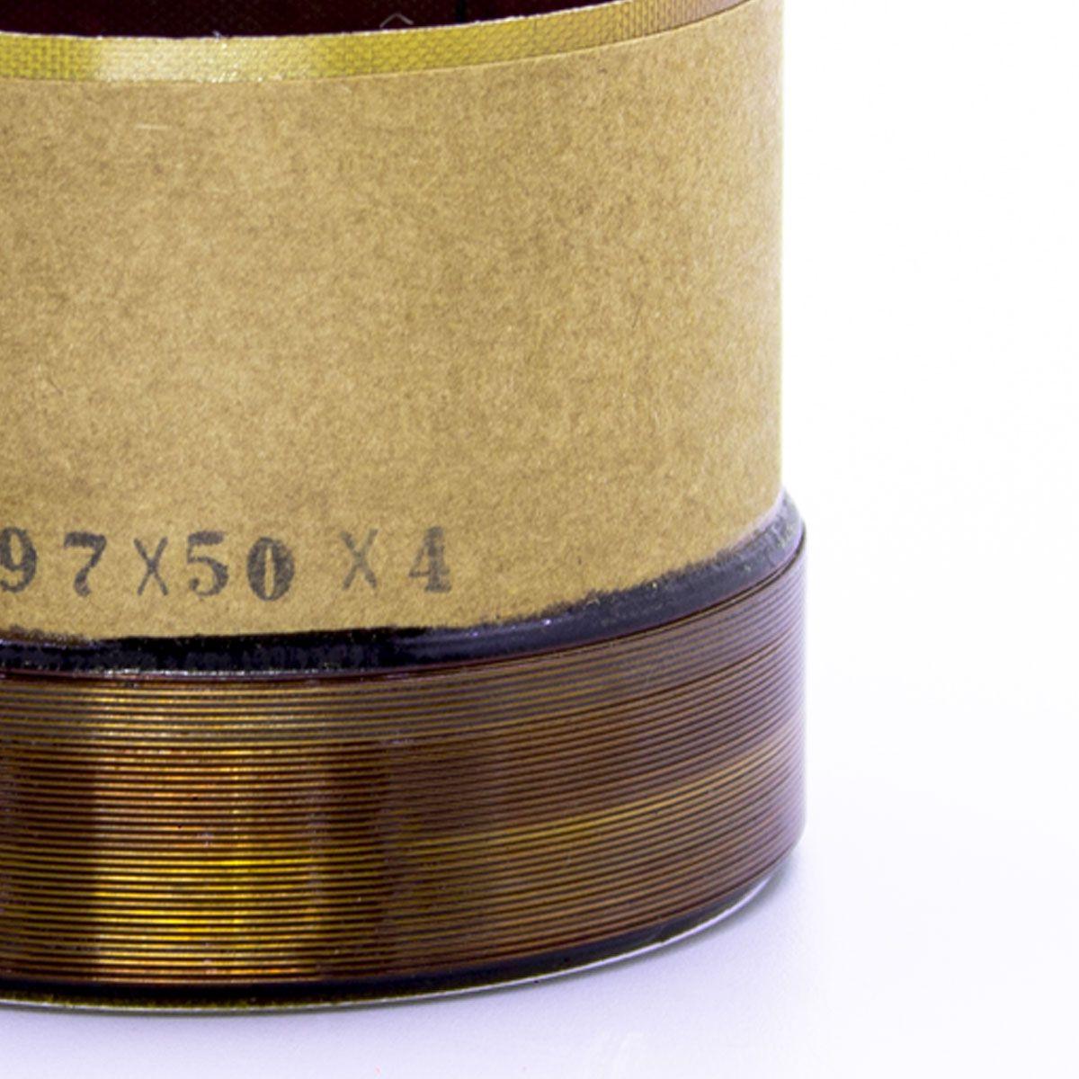 Bobina para Alto Falante Fibra 97x50 4R Vulcano 3.8 CCAW