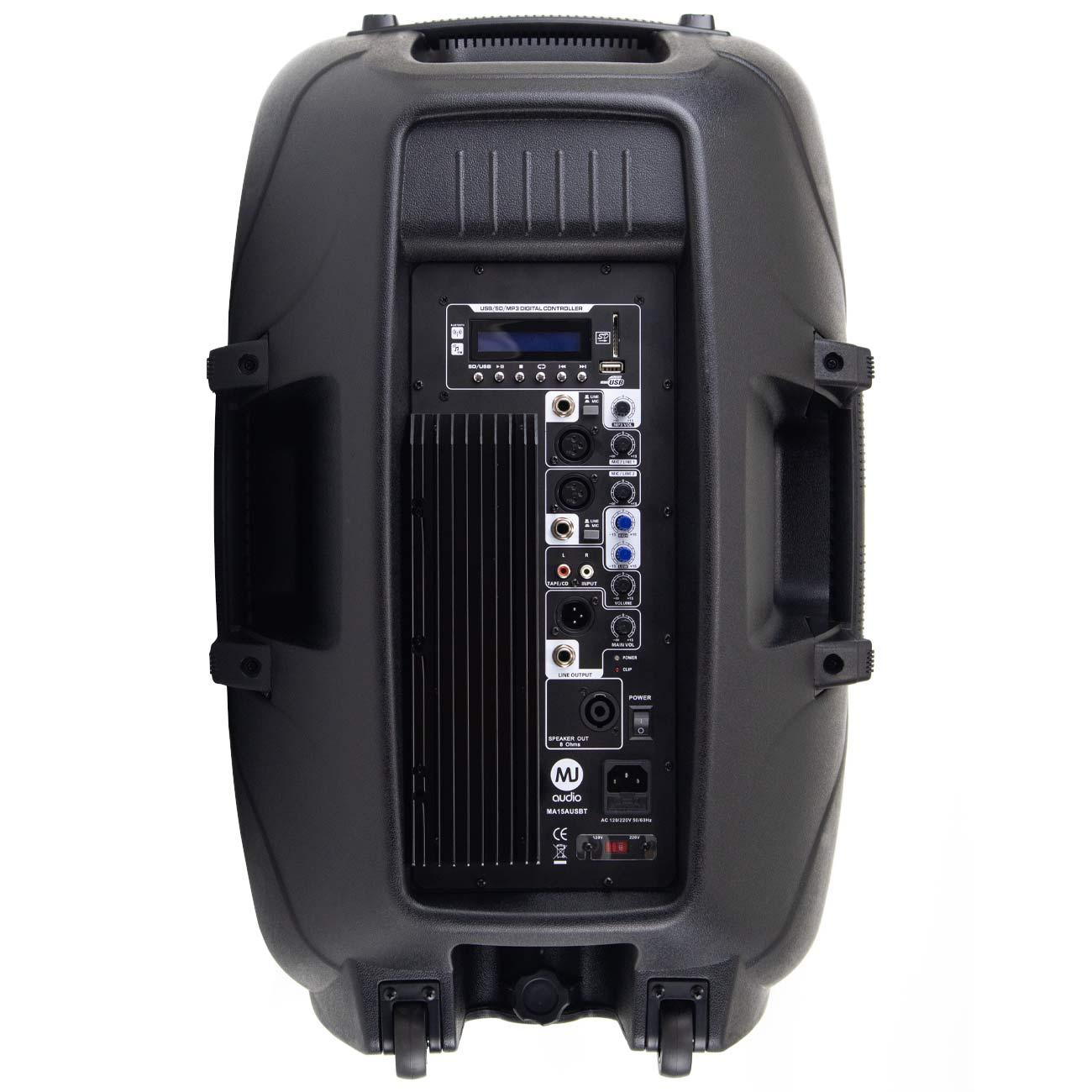 Caixa de Som Ativa MJ Audio 15¨ MA15AUSBT (Bluetooth, Microfone, Pedestal,..)