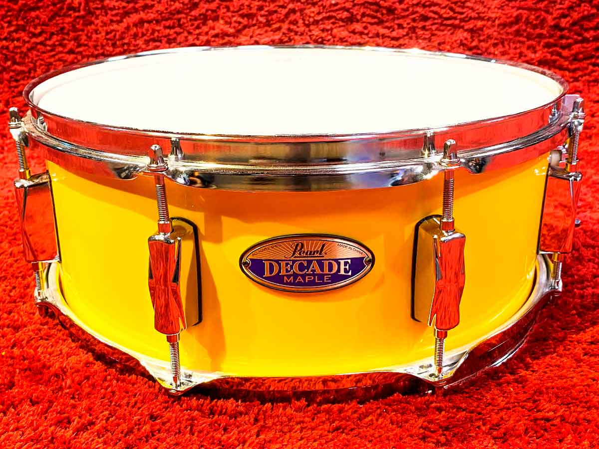 Caixa Pearl Decade Maple Solid Yellow 14x5,5¨