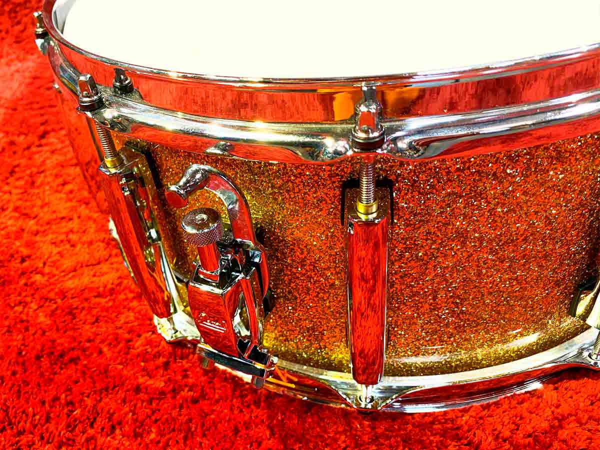Caixa Pearl Masters Maple Complete Bombay Gold Sparkle 14x6,5¨