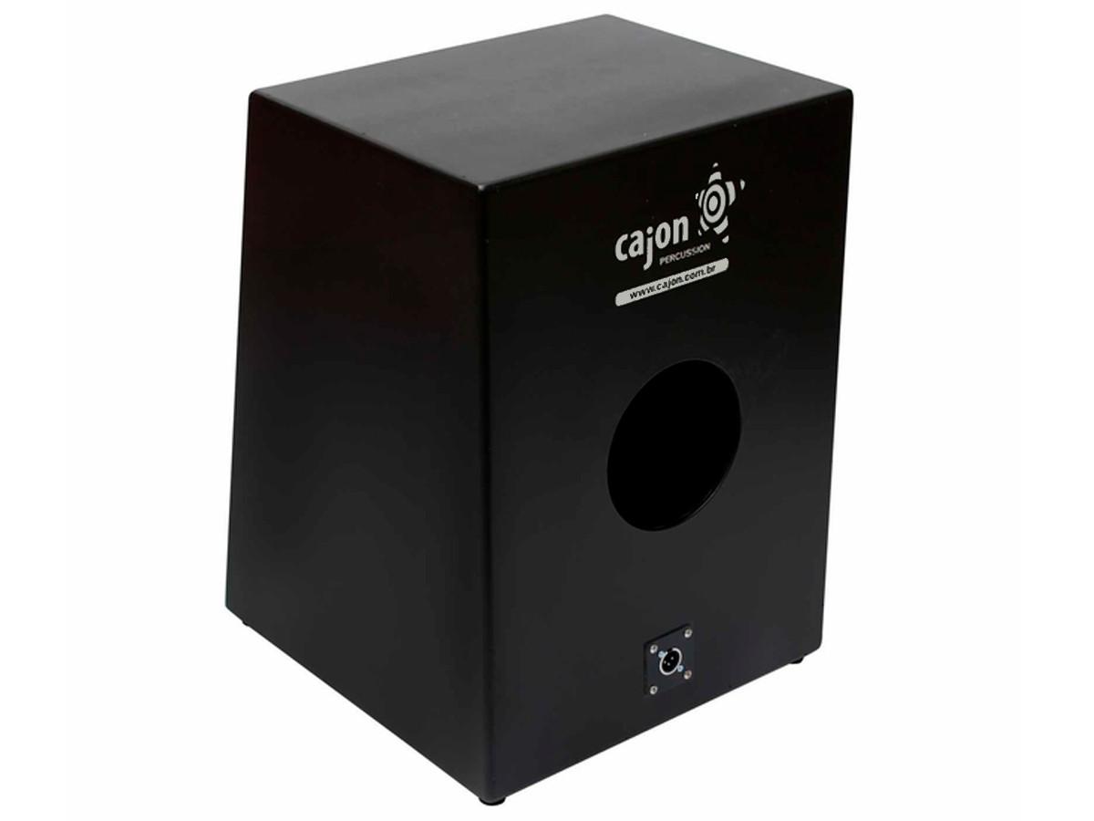 Cajon Eletroacústico Elo 501 Eletro + Microfone