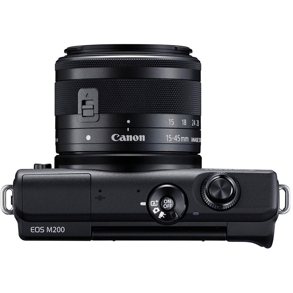 Cãmera Digital Canon M200 EOS C/ Lente EF-M15-45mm IS STM