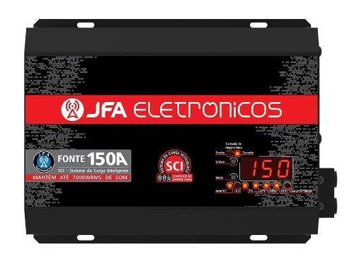 Fonte Automotiva Carregadora Jfa 150a Slim Com Voltímetro
