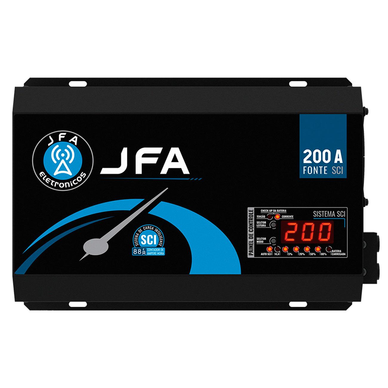 Fonte Automotiva Carregadora JFA 200A SCI Monovolt 220v