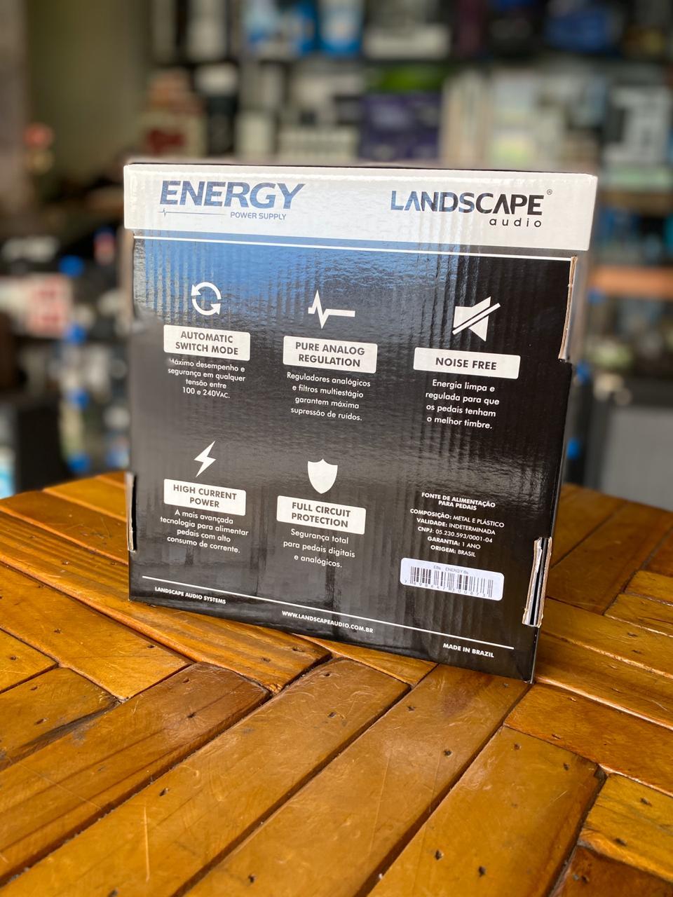 Fonte Landscape Energy 10s para 10 Pedais com Centro Negativo 9Vdc 1800mA