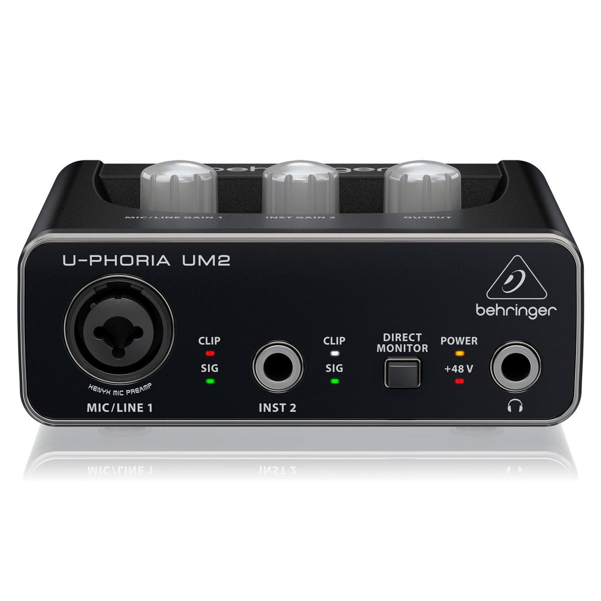 Interface De Áudio Behringer UM2 Profissional 48Khz