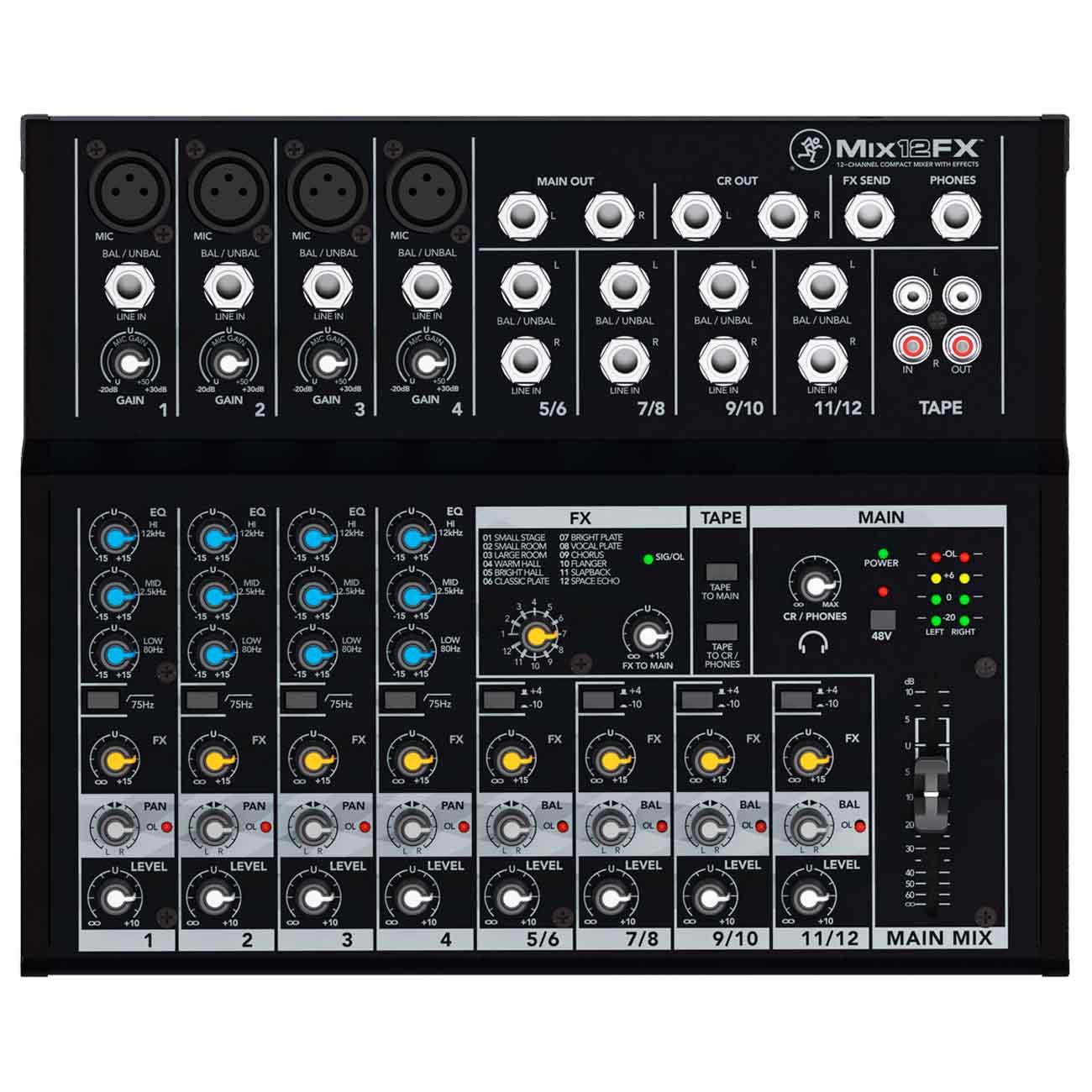 Mesa De Som Mix12FX Mackie 12 Canais C/ Efeitos