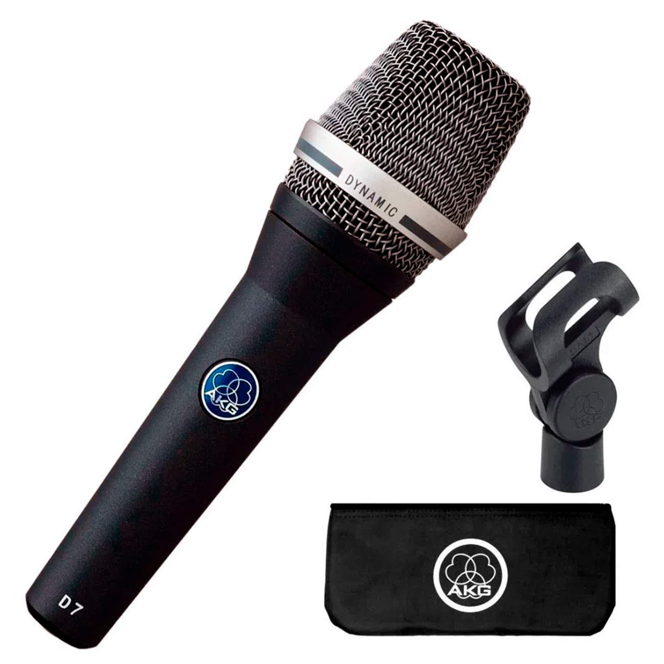 Microfone AKG D7 Dinâmico Supercardióide azul-escuro