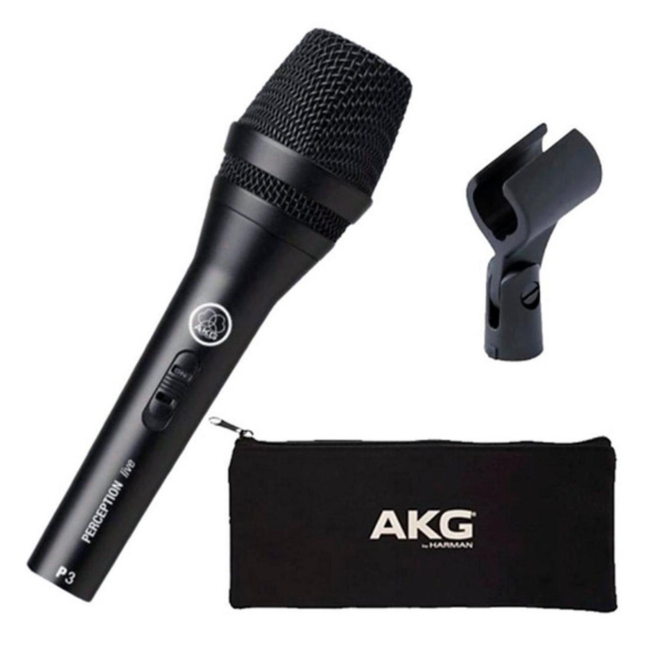Microfone AKG P3S Dinâmico Cardioide Preto