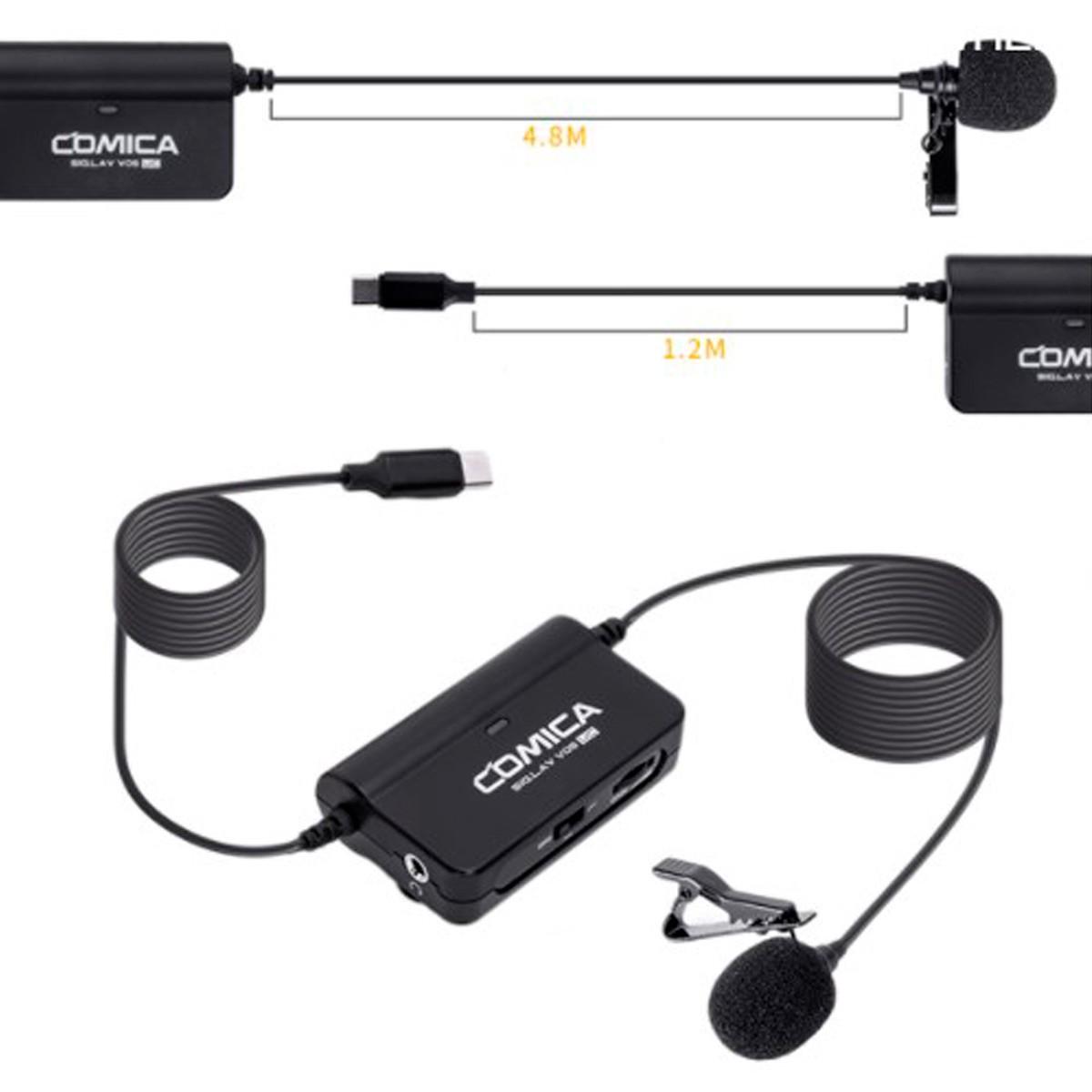 Microfone Lapela Comica Profissional Sig.Lav V05 UC Smartphone USB-C