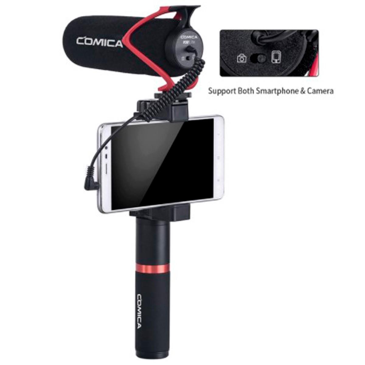 Microfone Shotgun Comica CVM-V30 LITE Condensador Direcional