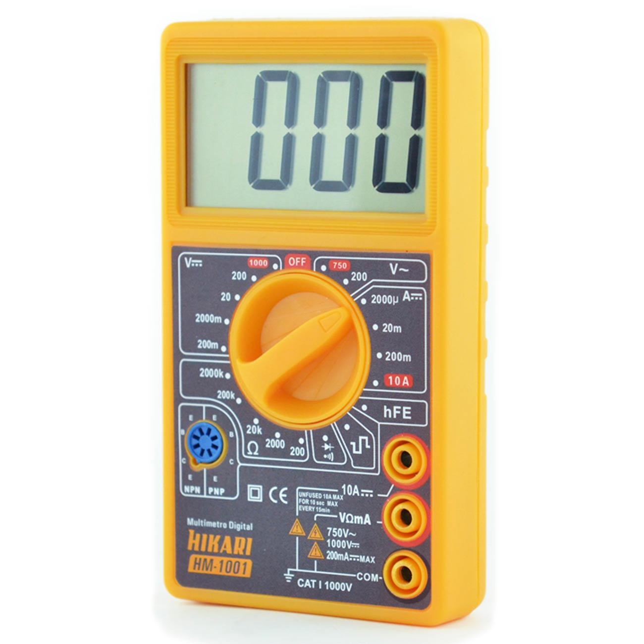 Multímetro Digital Hikari Hm-1001 Beep Diodo Lcd