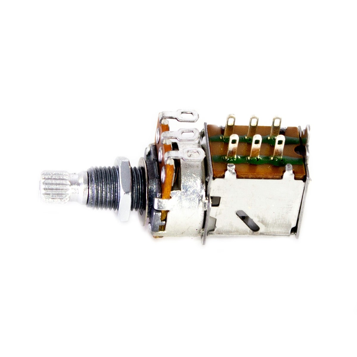 Potenciômetro Spirit Push Pull A500k Base Grande Eixo Longo