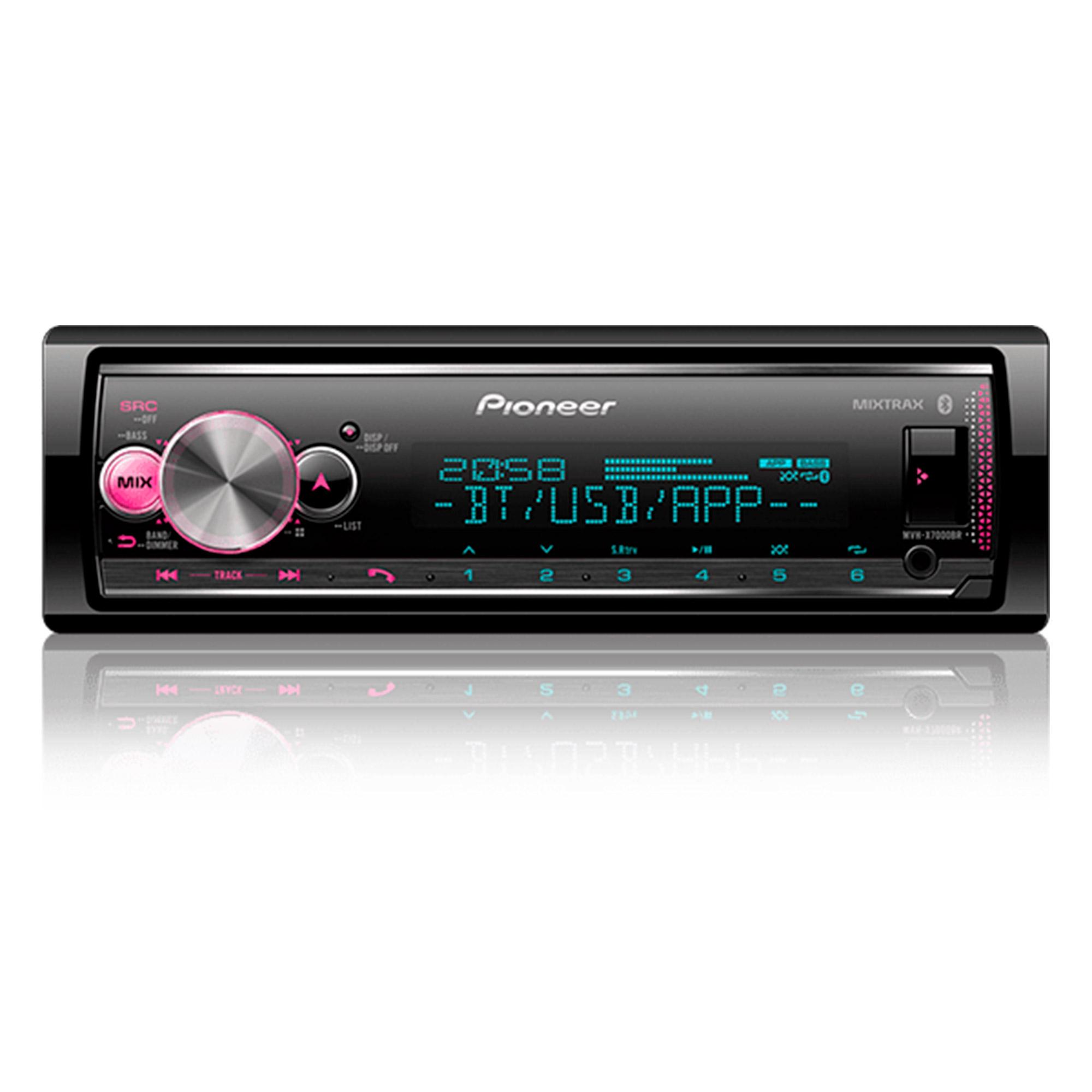 Som automotivo Pioneer MVH X7000 BR com USB e bluetooth