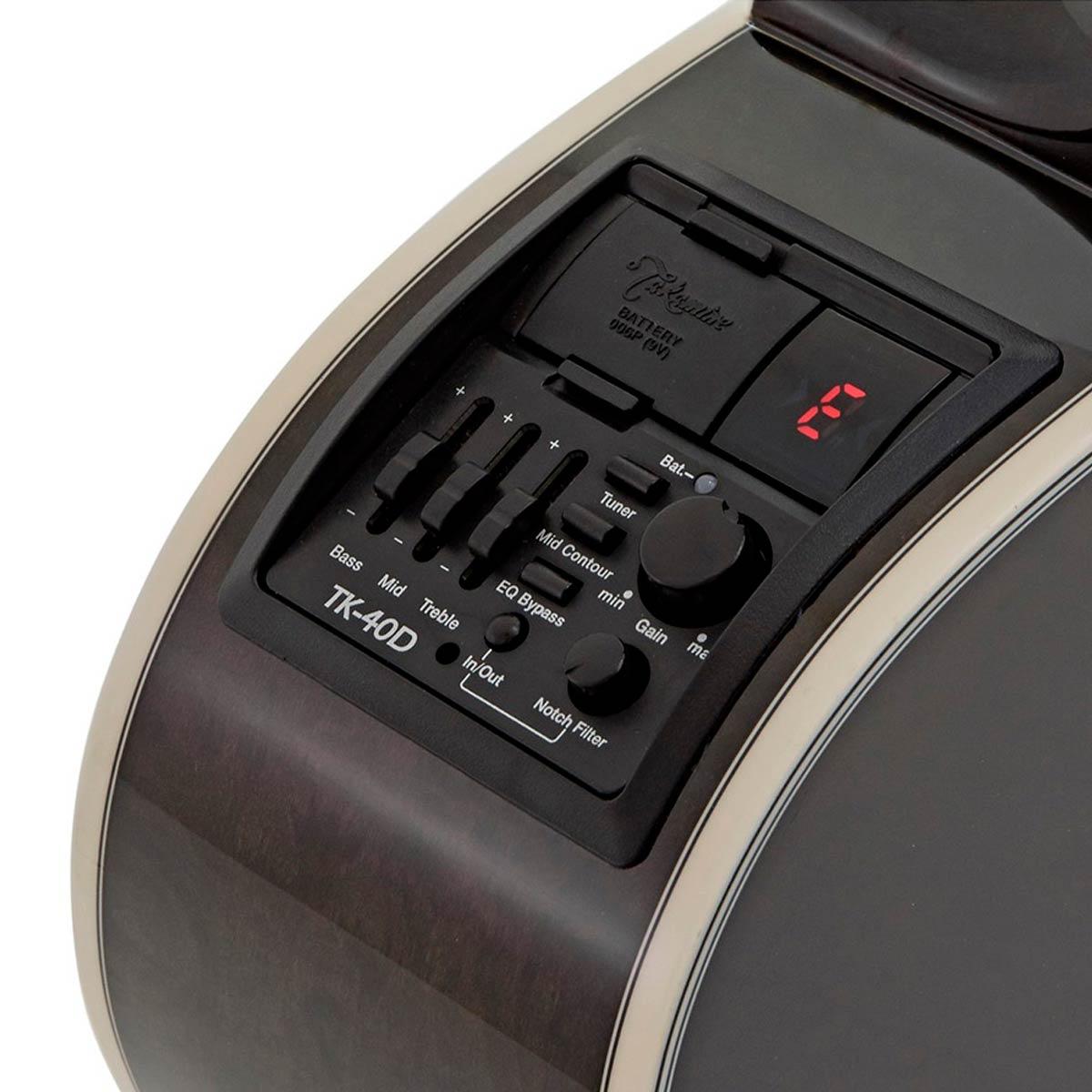 Violão Eletroacústico Aço Takamine GN75 Transparent Black