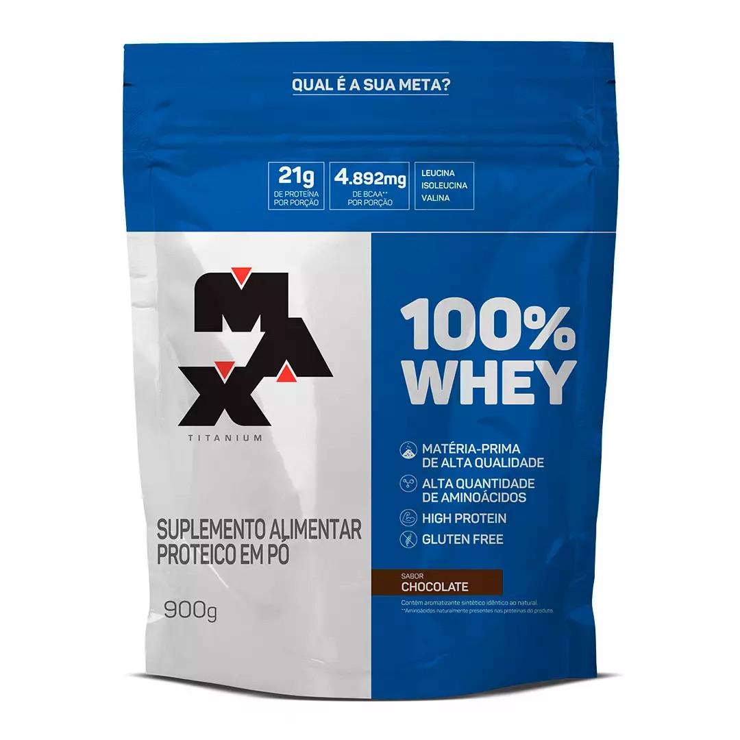 100% Whey 900g Refil - Max Titanium