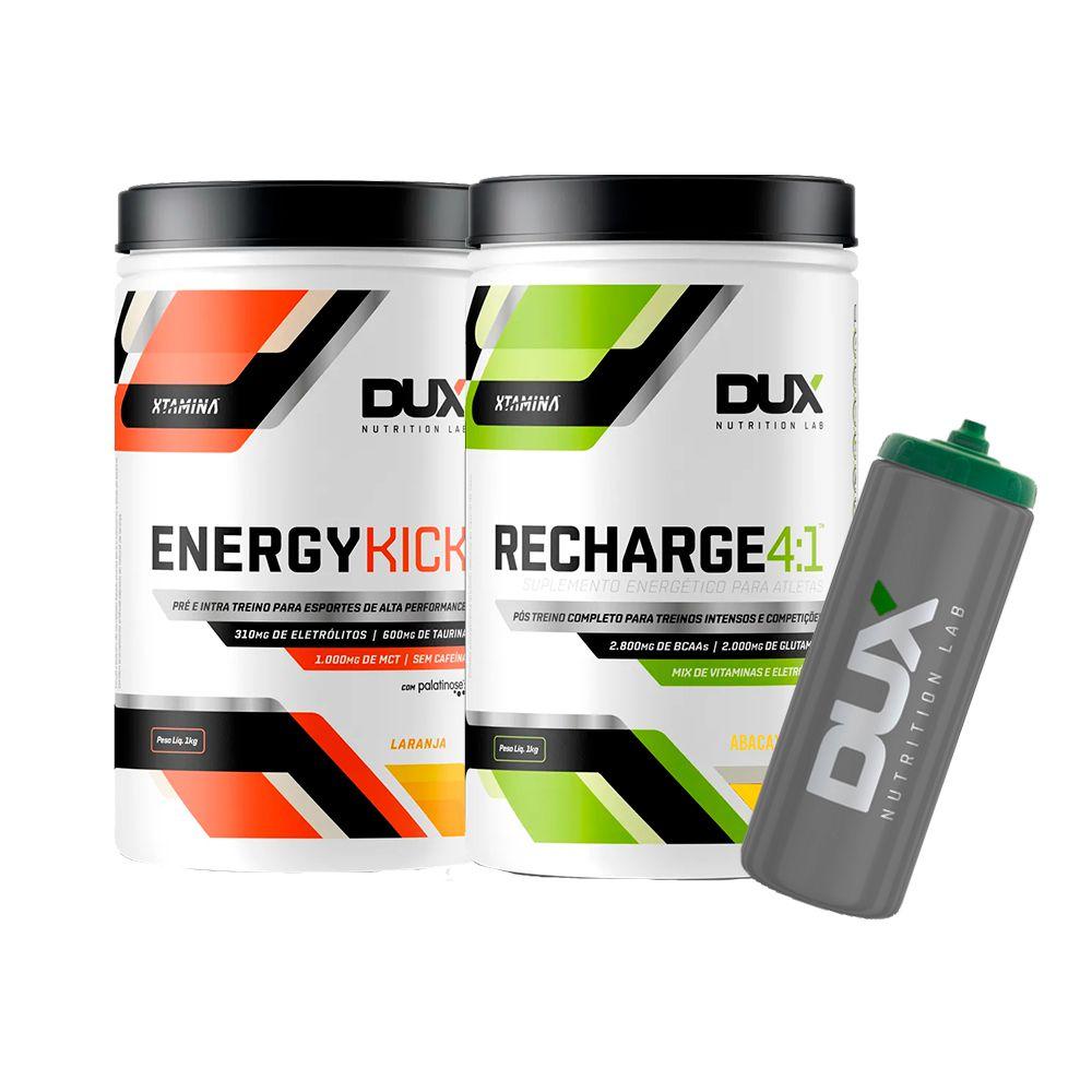 Energy Kick + Recharge 4:1 + Squeeze Grátis - Dux Nutrition