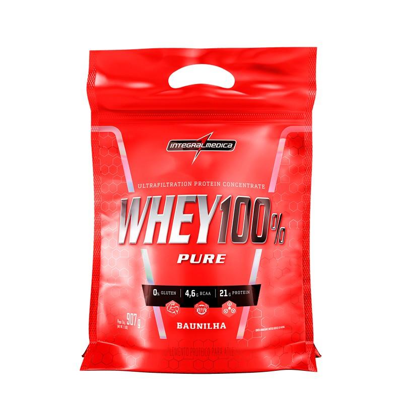 Whey 100% Pure 907g Refil - Integralmédica