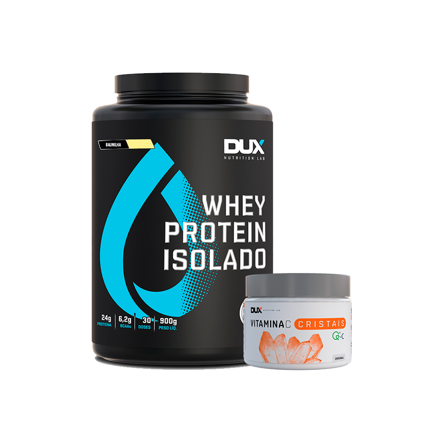 Whey Isolado 900g + Vitamina C 200g - Dux Nutrition