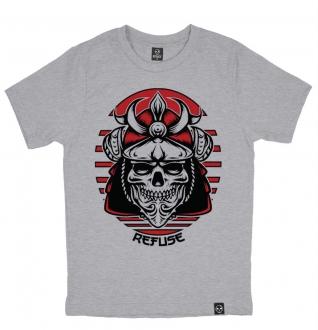 Camiseta Samurai Skull Cinza
