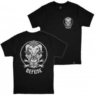 Camiseta Wolf in Sheep Preta