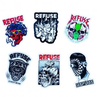 Pack com 6 Stickers Refuse