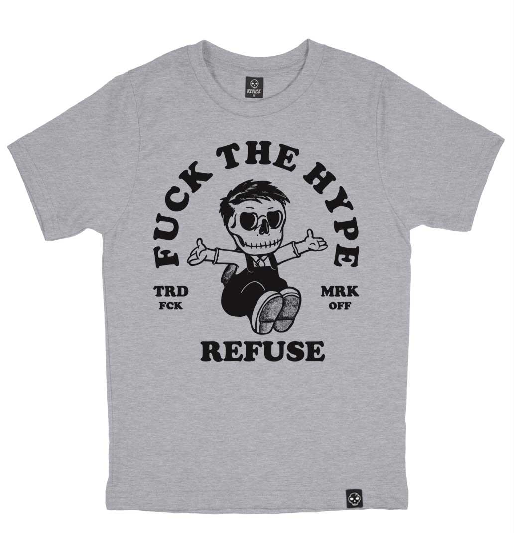 Camiseta Fuck The Hype Cinza