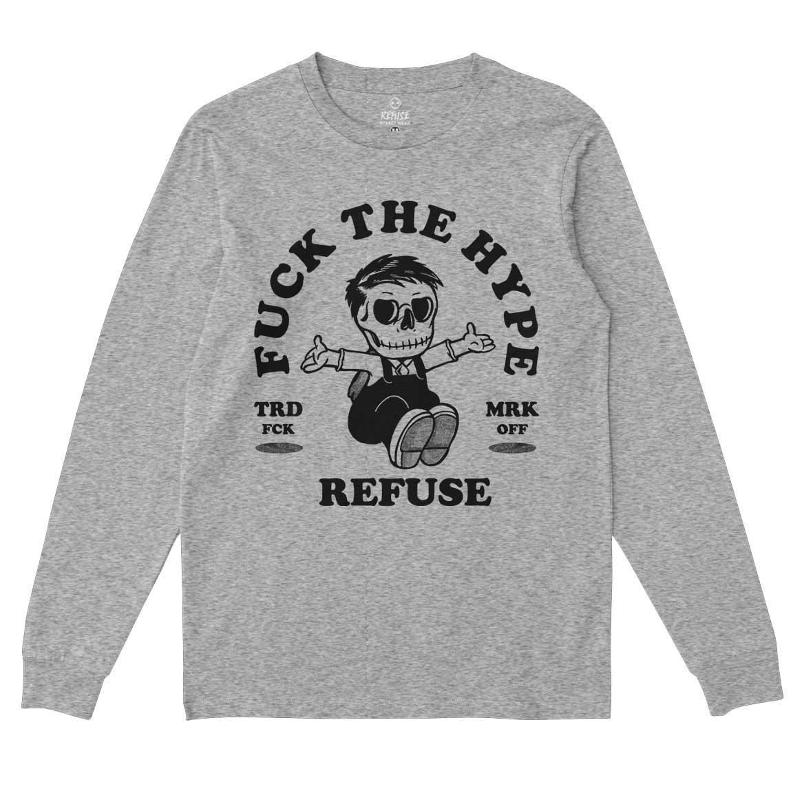 Camiseta Manga Longa Fuck The Hype Cinza