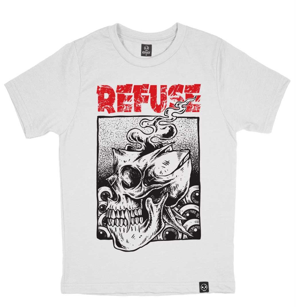 Camiseta Miss Skull Branca