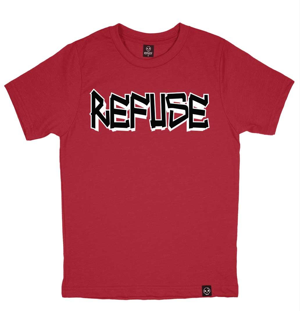 Camiseta Refuse 04 - Vermelha Escura