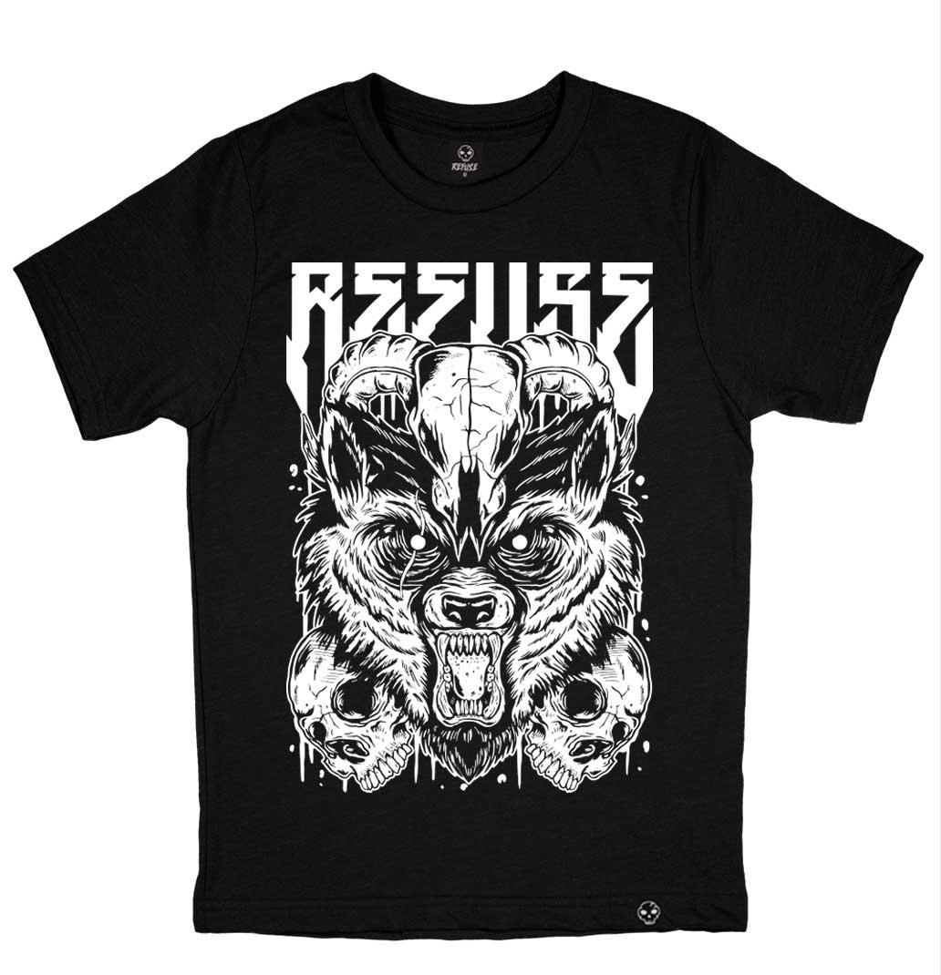 Camiseta Wolf Ram Preta