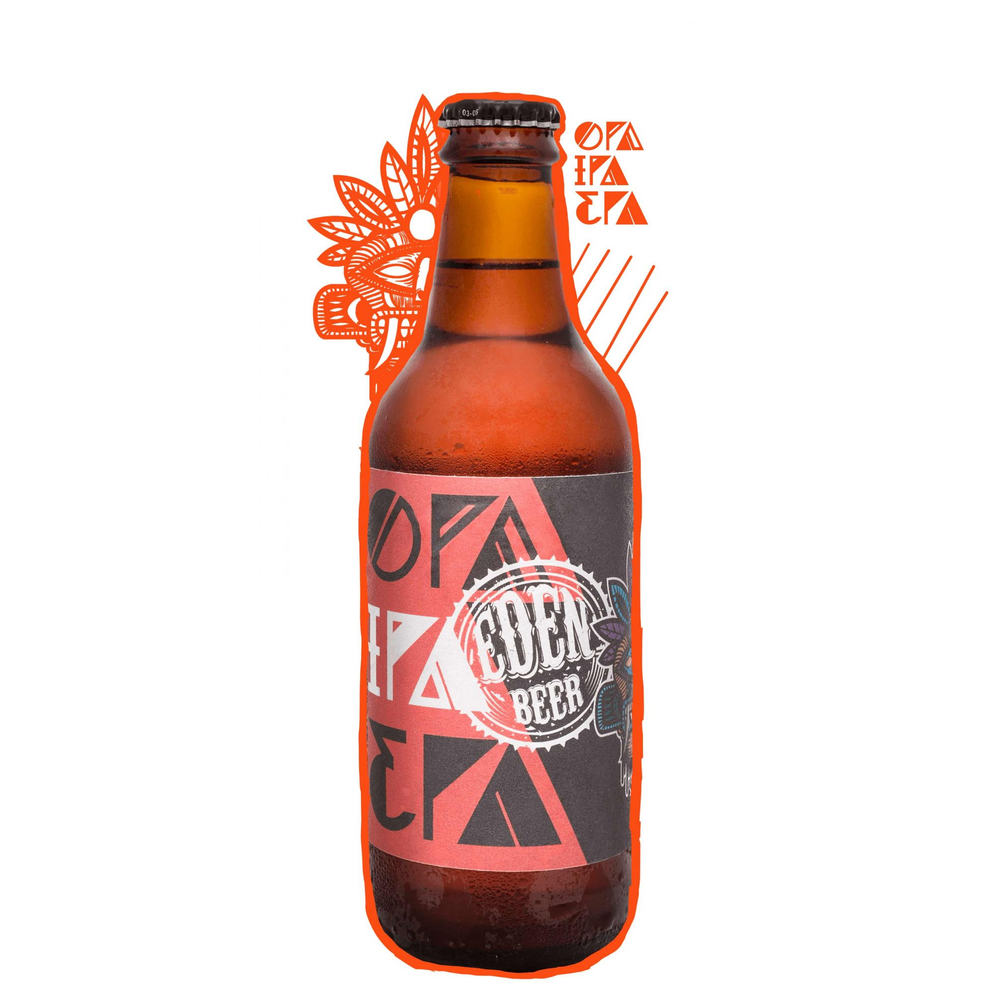 Cerveja Artesanal IPA Eden Beer 330ml - Puro Malte - OPA IPA EPA