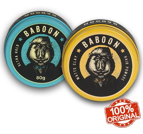 Kit Baboon Pomada Matte Clay + Ultra Hold - Frete Grátis!