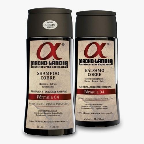 Kit Shampoo + Bálsamo Para Barba Ruiva - Macho Lândia 84
