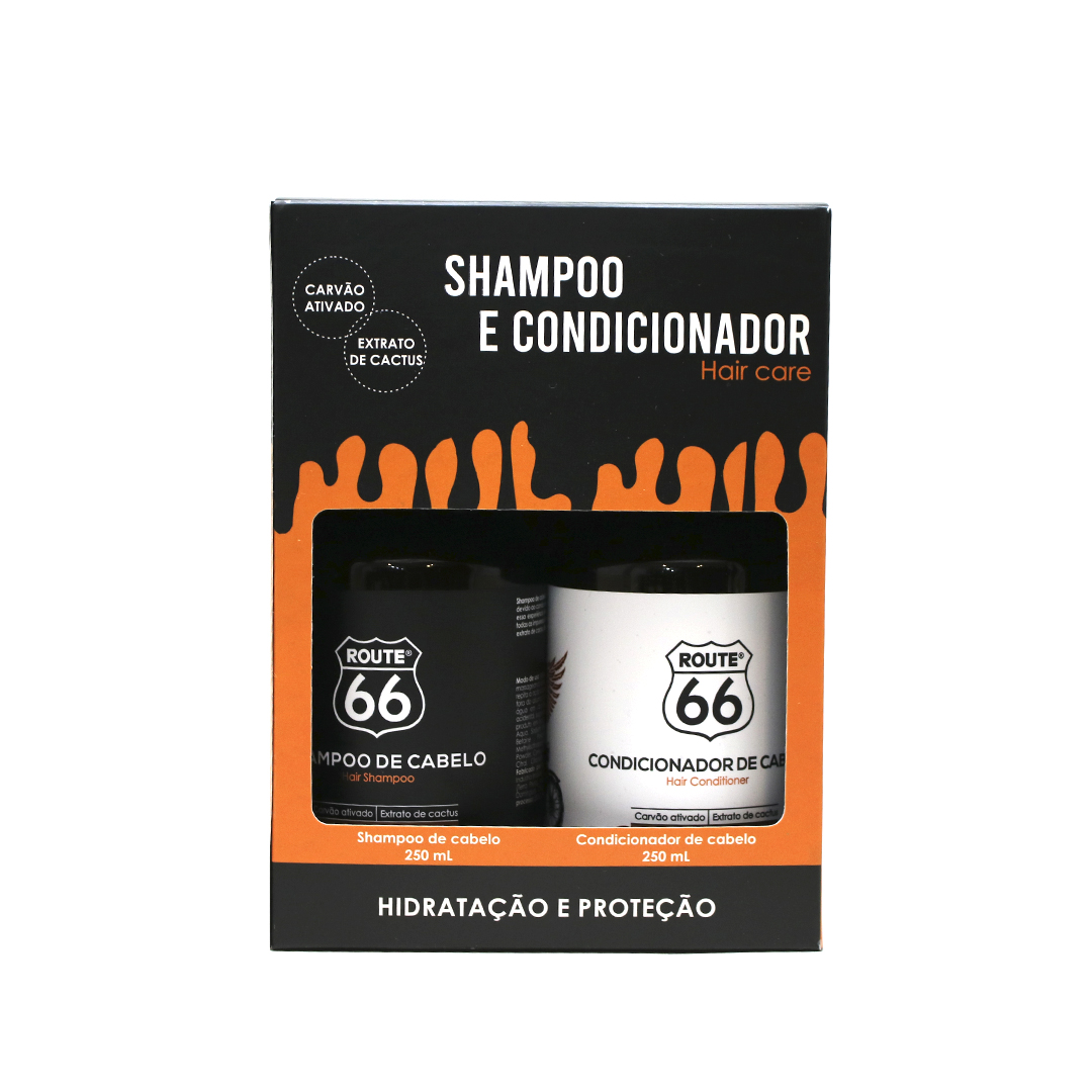 Kit Shampoo E Condicionador Viking Route 66 + Caixa Presente