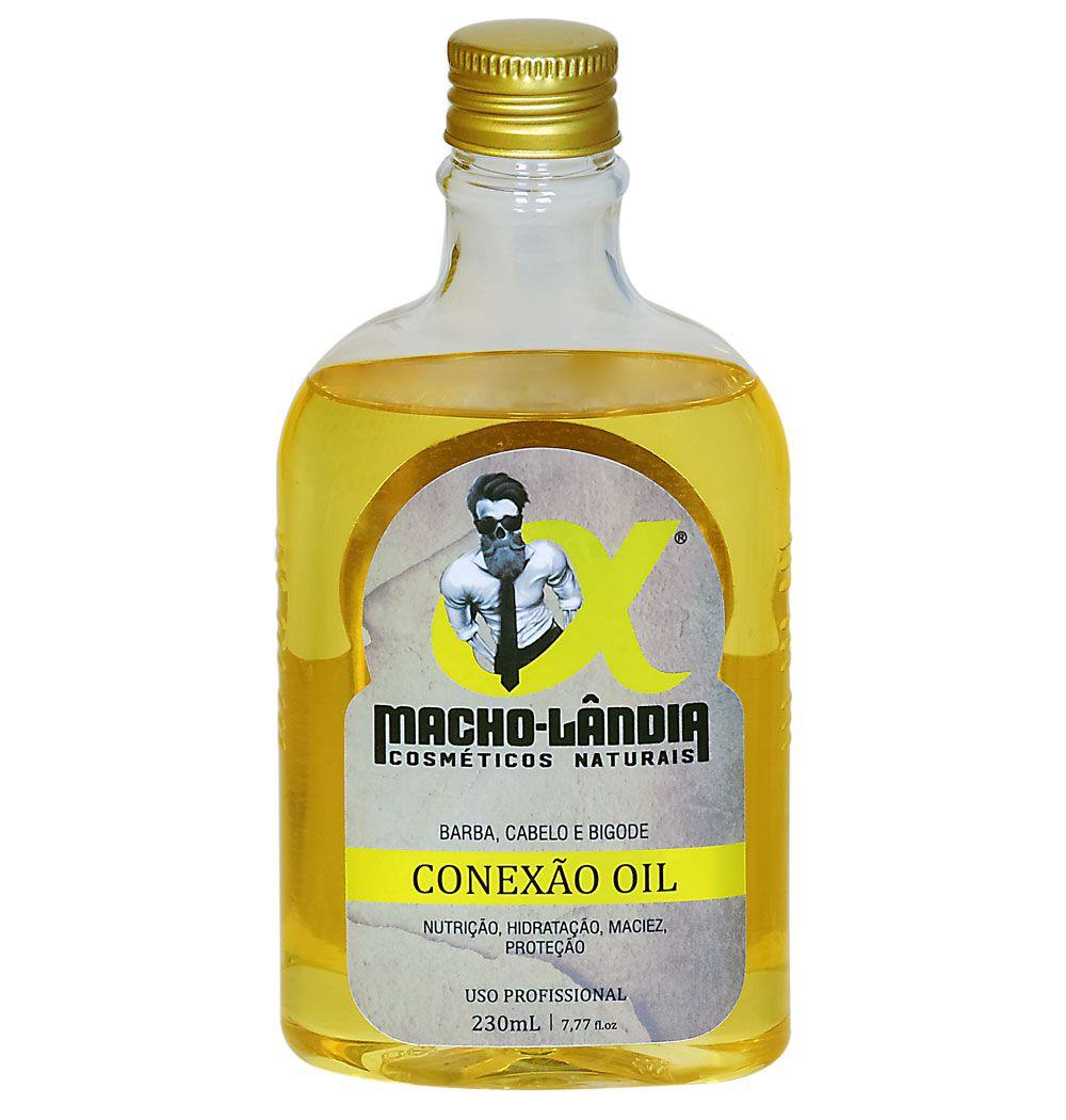 Óleo para barba Profissional Macho-Lândia Conexão Oil - 230ml