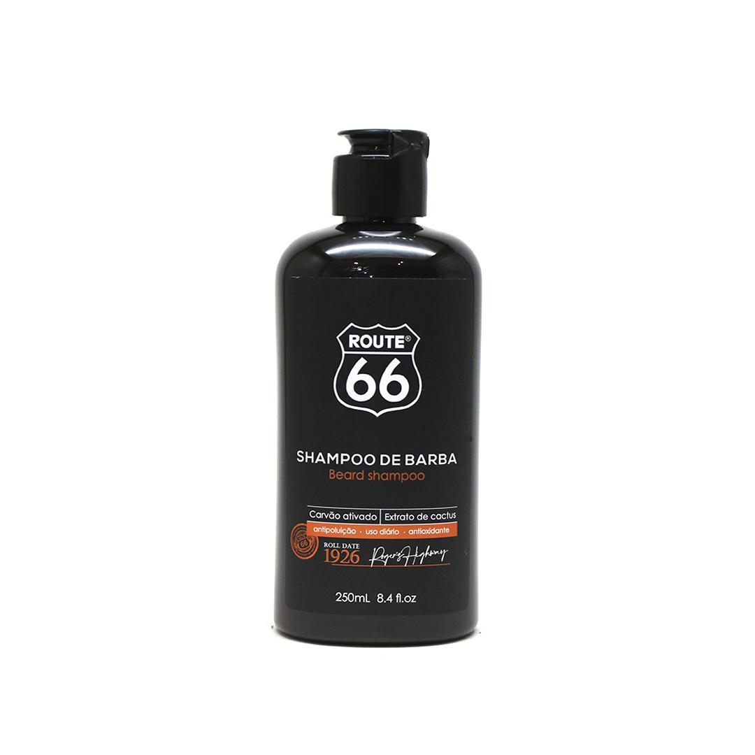 Shampoo Para Barba com Carvão Ativado Route 66 Viking 250ml