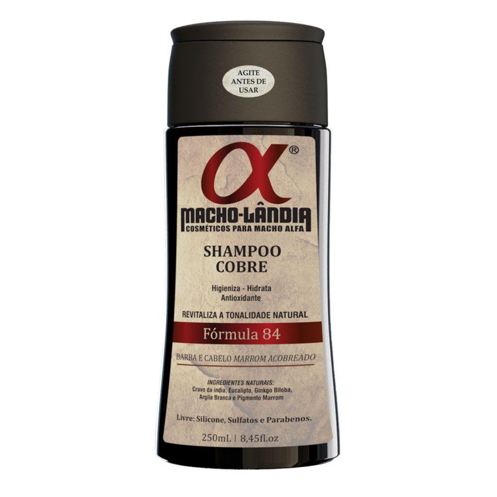 Shampoo Para Barba e Cabelos Ruivos Macho-Lândia Fórmula 84 - 250ml